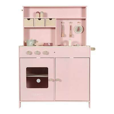 Little Dutch Pink Wooden Play Toy Kitchen - BRAND NEW • 99£