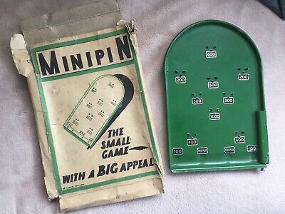 MiniPin Vintage Tiny Metal Bagatelle Game With Original Box • 12£