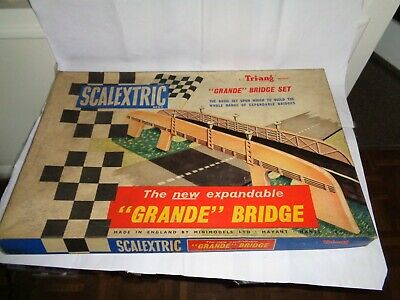 SCALEXTRIC A229 GRANDE BRIDGE 1960s COMPLETE MADE IN ENGLAND  • 50£