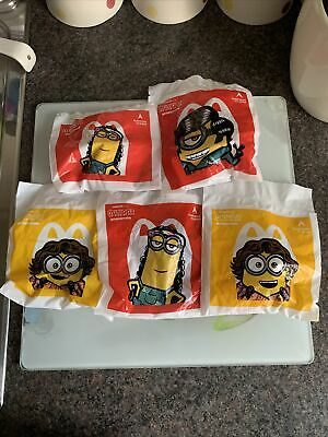 McDonalds Happy Meal Toy UK 2020 Minions Rise Of Gru Figures Toys X 5 • 5£