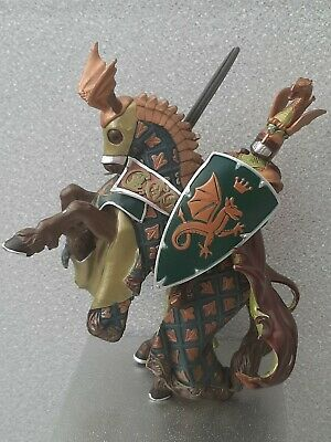 Papo Dragon Knight On Horse Green Gold • 10£