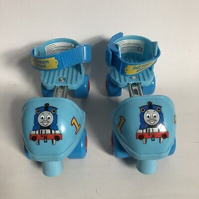 Thomas The Tank Engine Over Shoe Quad Roller Skates Adjustable VGC Age 3 + • 15£