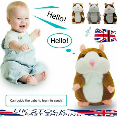 Cute Talking Hamster Plush Animal Doll Sound Record Repeat Christmas Toy Gift UK • 5.95£