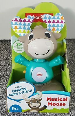 Fisher Price Musical Moose Linkimals Age 9M+ GHR20 Sounds Tunes Interactive -NEW • 12.25£