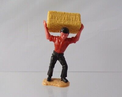 Vintage Timpo Farm Series Farmer Worker Carrying Hay Bale 1.32 Plastic Figure  • 39.99£