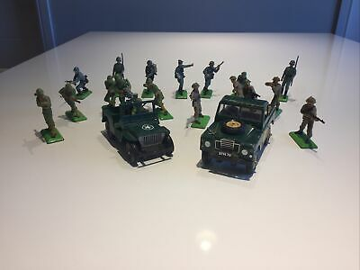 Britains Ltd Deetail WW2 Landrover, Jeep, American, British And German Figures • 26.50£