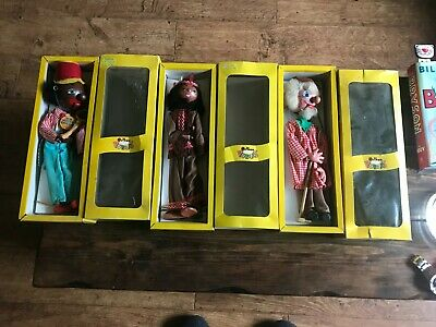3 Pelham Puppets In Box Minstrel Indian Boy Farmer Boxed Puppet • 24.99£