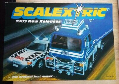 Scalextric New Releases Catalogue Brochure From 1985 With Price List - Scarce! • 14.20£