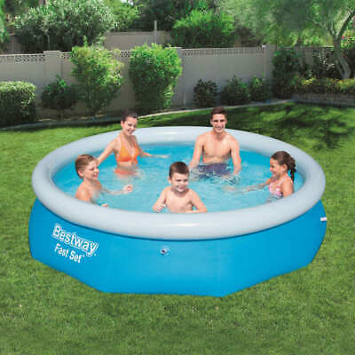 Bestway Fast Set Inflatable Swimming Pool Round 305x76cm Summer Water Centre • 56.99£