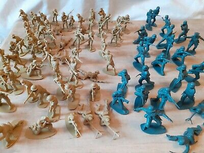 Vintage Toy Soldiers Plastic Figures Job Lot - Grey And Beige  • 1.99£