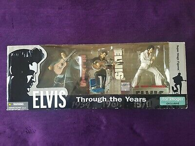 The King Elvis Through The Years Figures 1954 1968 1970 Rare In Box By McFarlane • 70£