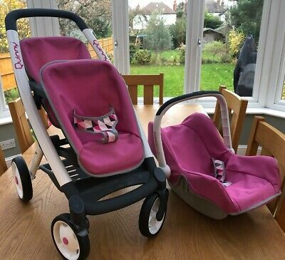 Smoby Maxi-Cosi Quinny Double Dolls Buggy With Car Seat Fab Condition • 24£