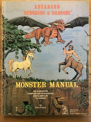 Advanced  Dungeons And Dragons Monster Manual By TSR Games, HB • 9.50£
