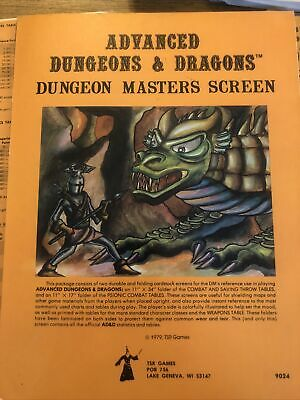Dungeon Masters Screen 2 Panels AD&D 9024 TSR Rare Excellent Condition(+2 Extra) • 11.61£