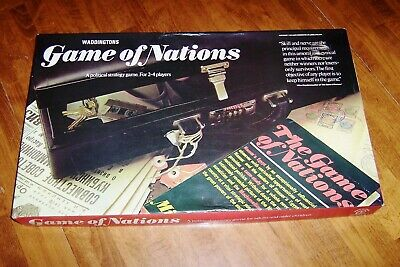 Vintage 1973 GAME OF NATIONS Board Game By Waddingtons. Complete  • 9.99£