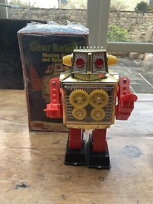Vintage Robot Horikawa - Gear Robot -with Original Box -made In Japan -excellent • 210£