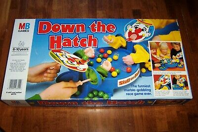 Vintage 1983  DOWN THE HATCH  Board Game By MB GAMES, Complete • 9.99£