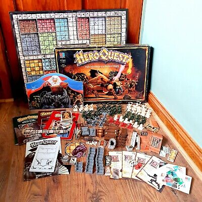 1989 Games Workshop HERO QUEST Board Game Boxed Complete With Extras • 72£