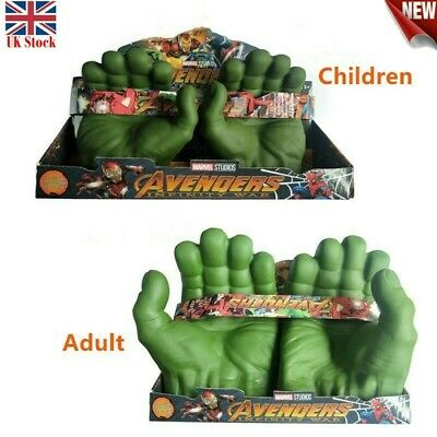 Avengers Hulk Smash Hands Soft Toy Doll Gloves One Pair Party Cosplay Toy Gift  • 12.98£