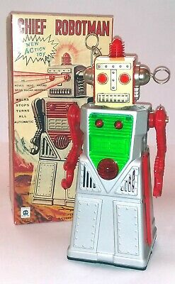 Chief Robotman Silver Robot Reproduction By Haha, Mib • 14.50£