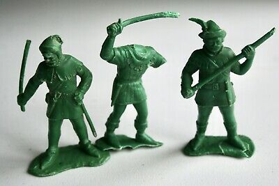 Rare Vintage 1950's Little John  And Robin Hood Series Green Plastic Figures • 9.99£