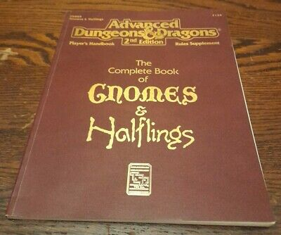 The Complete Book Of Gnomes & Halflings PHBR91993TSR2134AD&D 2E • 22£