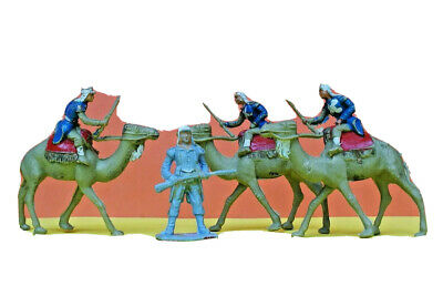 Vintage CHERILEA 40mm Plastic Foreign Legion On Camels (Hollow-cast Moulds)   • 29.99£