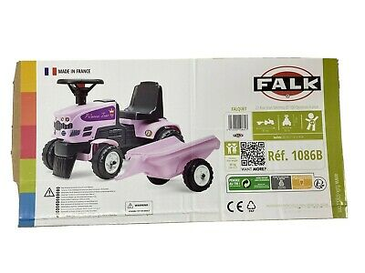 Falk Princess Foot To Floor Tractor - Pink - NEW • 29.99£