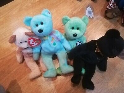 Retired Ty Beanie Babies Mixed Bear Bundle, Good Condition • 3£
