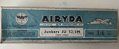 Vintage Airyda Junkers Ju52 Kit Sealed From World War 2  Aircraft Kit  • 5£