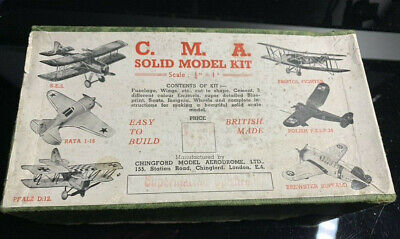 Vintage Aircraft Kit Cma Supermarine Spitfire From World War 2 Chingford Model  • 5£