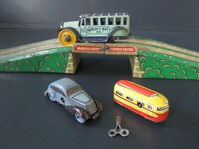 Vintage 1930's And 40's Tinplate Clockwork Toys, Made In England And Germany • 9.99£