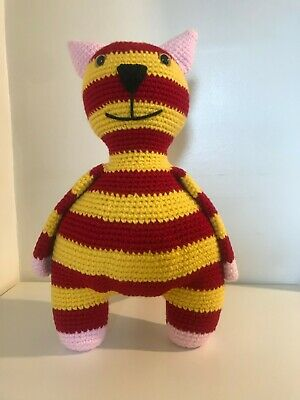 Crochet Cat, Kitten Fedor, Amigurumi Cat, Handmade Soft Toy, Striped Cat • 34.99£