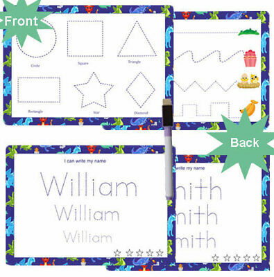 Write Name Home Learning Writing Charts Learn Shapes Words Personalis Reusable • 7.50£