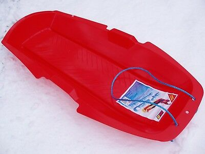 SNOW SLEDGE LARGEST FOR KIDS & ADULTS PLASTIC WITH ROPE Over 1Mtr Long • 12£