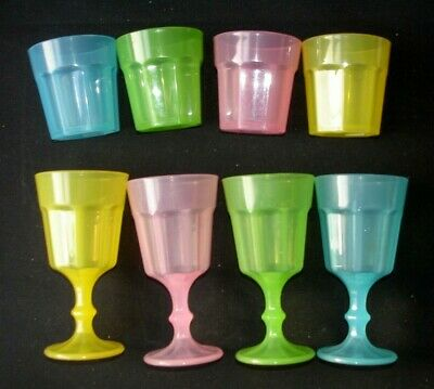 IKEA Kids Childrens Play Pretend Pastel Colour Drink Glasses Cups Pre School  • 7.75£