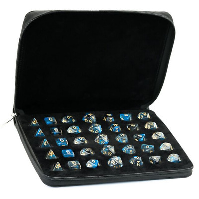 Leather Dice Case, Holds 5 Polyhedral Dice Set. DND Bag Dungeons And Dragons • 18£