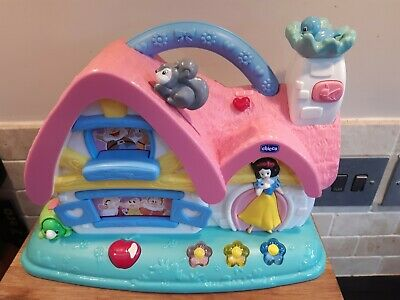 Chicco Snow White Disney Princess Musical Cottage Activity Baby Lights Sounds • 24.99£