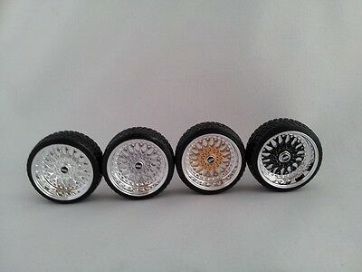 1:18 Scale BBS RS 15 INCH TUNING WHEELS WITH Wheellogos Now Included, UNIQUE! • 14.50£