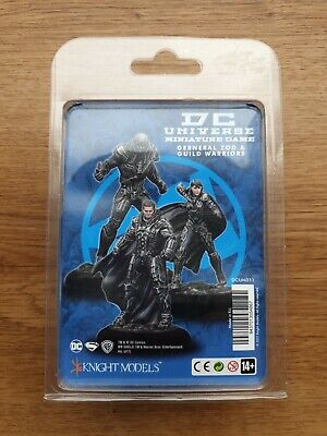 DC Universe Miniature Game General Zod & Guild Warriors Knight Models • 25£