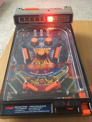 Vintage Tomy Atomic Pinball Working • 8£