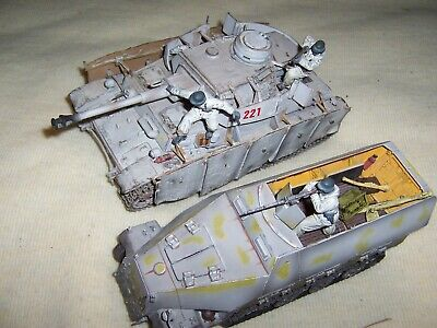 Forces Of Valour 1/32 Scale Hanomag And Panzer Iv Tank In Winter Camo .     • 69£