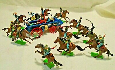 Britains Deetail Mounted Us 7th Cavelry Union & Confererate Soldiers & Cowboys • 42£