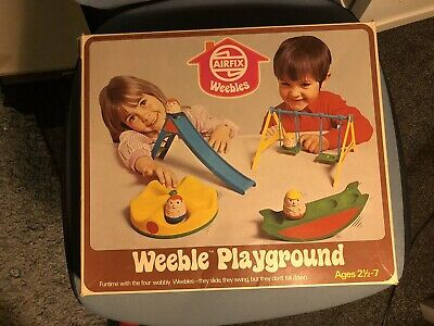 Vintage 1970s Weebles Playground Airfix With 8 Weebles Boxed • 65£