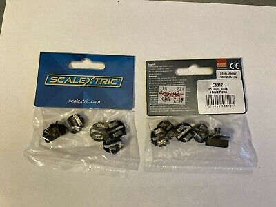 2 X Scalextric Start Guide Blade & Plates (C8312) • 7£