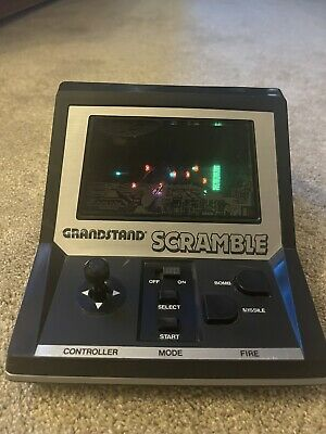 Vintage Grandstand Scramble Electronic Arcade Game, With Box 1982 • 20£