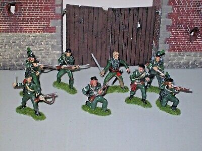 SHARPES RIFLES 1/32 Scale Plastic  Napoleonic Soldiers X8 Hand Painted • 60£