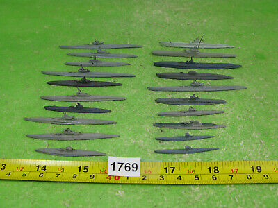 Vintage Diecast Waterline Model Submarines X20 Mixed Lot 1769 • 15£