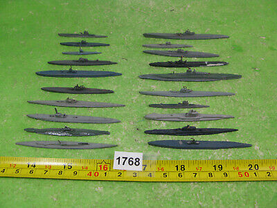 Vintage Diecast Waterline Model Submarines X20 Mixed Lot 1768 • 15£