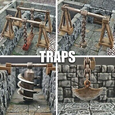 DnD Swinging Trap Set - Dungeon Tile 28mm | Warhammer 40k Fantasy AoS • 22.95£